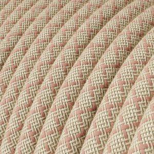 cavo-elettrico-rotondo-rivestito-in-cotone-losanga-color-rosa-antico-e-lino-naturale-rd61
